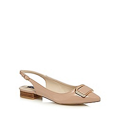 Principles by Ben de Lisi - Beige patent buckle slip-on shoes