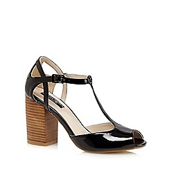 Principles by Ben de Lisi - Black T-bar patent high sandals