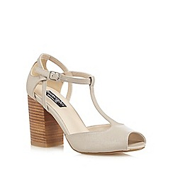 Principles by Ben de Lisi - Grey T-bar peep toe high sandals