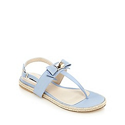 Principles by Ben de Lisi - Light blue bow applique T-bar flat sandals