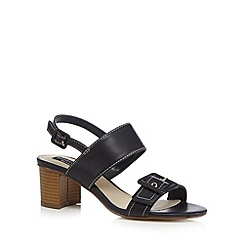 Principles by Ben de Lisi - Navy buckle detail mid heel sandals