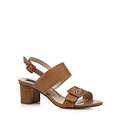 Principles by Ben de Lisi - Tan buckle detail mid sandals