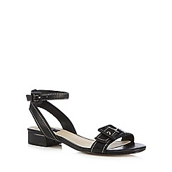Principles by Ben de Lisi - Black buckle detail low sandals