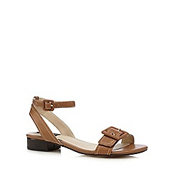 Principles by Ben de Lisi - Tan buckle detail low sandals