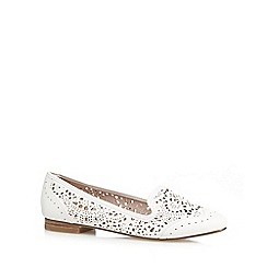 RJR.John Rocha - White cut-out slip-on shoes