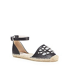 RJR.John Rocha - Black jewelled espadrille sandals