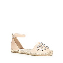 RJR.John Rocha - Light pink jewelled espadrille sandals