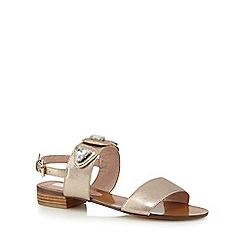 RJR.John Rocha - Gold stone sandals