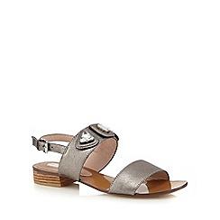 RJR.John Rocha - Silver stone sandals