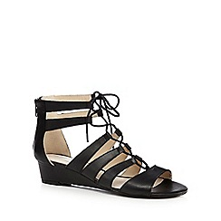 RJR.John Rocha - Black Rupert Ghillie 'lea' wedge-heeled gladiator sandals