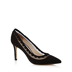 J by Jasper Conran - Black mesh high court shoes