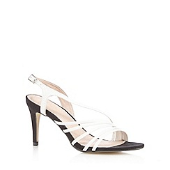 J by Jasper Conran - White asymmetric midi sandals