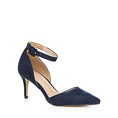 J by Jasper Conran - Navy ankle strap court shoes