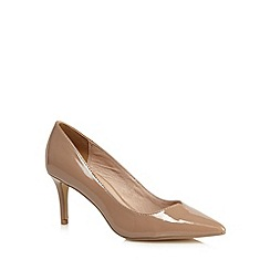 J by Jasper Conran - Beige patent court shoes