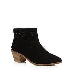 Nine by Savannah Miller - Black 'Saskia' suede ankle boots