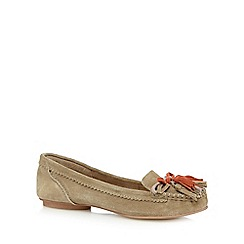 Nine by Savannah Miller - Tan suede moccasin shoes