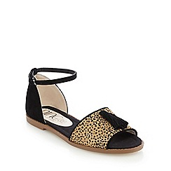 Nine by Savannah Miller - Beige pony hair flat open toe sandals
