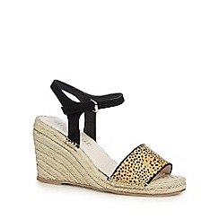 Nine by Savannah Miller - Beige pony hair high wedge espadrille sandals