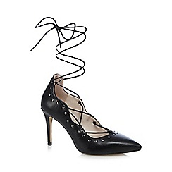 Nine by Savannah Miller - Black studded lace up high court shoes