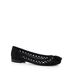 Nine by Savannah Miller - Black suede tassel slip-on shoes