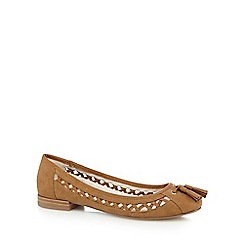 Nine by Savannah Miller - Tan suede tassel slip-on shoes