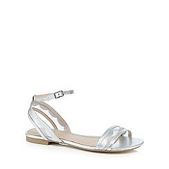 J by Jasper Conran - Silver mesh strap sandals