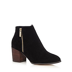 J by Jasper Conran - Black zip up high ankle boots