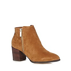 J by Jasper Conran - Tan zip up high ankle boots