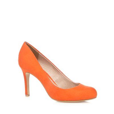 J by Jasper Conran Orange suedette high court shoes