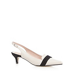 J by Jasper Conran - Grey leather pointed court shoes