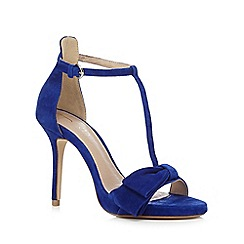 J by Jasper Conran - Navy 'Jones' high sandals