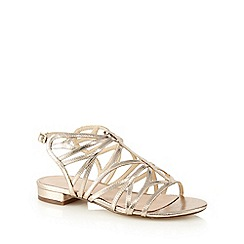 J by Jasper Conran - Gold cut-out sandals