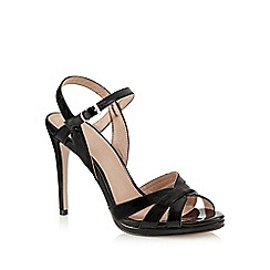 J by Jasper Conran - Black patent high sandals