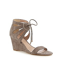 J by Jasper Conran - Grey suede high wedge sandals