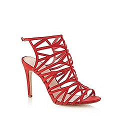 J by Jasper Conran - Red caged high sandals