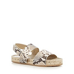 RJR.John Rocha - White leather espadrille sandals