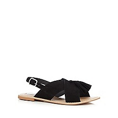 RJR.John Rocha - Black leather tassel sandals