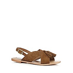 RJR.John Rocha - Tan leather tassel sandals