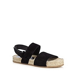 RJR.John Rocha - Black leather espadrille sandals