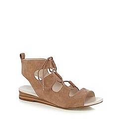 Nine by Savannah Miller - Light brown lace up textured sandals