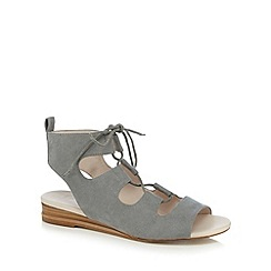 Nine by Savannah Miller - Pale blue lace up textured sandals