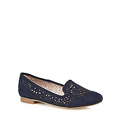 RJR.John Rocha - Navy cut-out flat shoes