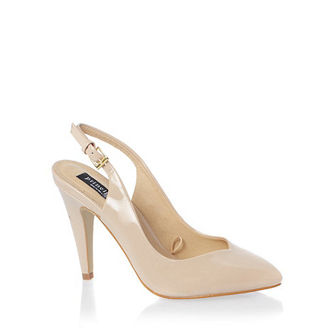 Principles by Ben de Lisi - Beige 'enette' high heel patent shoes