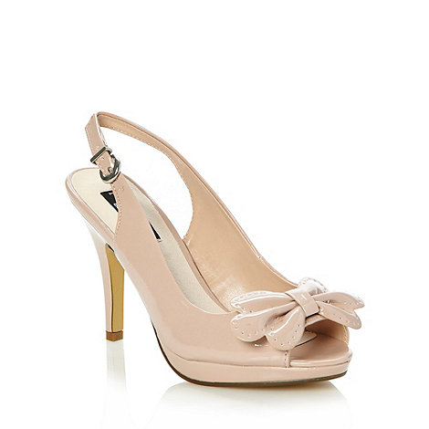 Principles by Ben de Lisi - Designer beige scalloped bow high court shoes