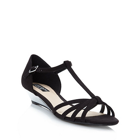 Principles by Ben de Lisi - Designer black woven mid wedge sandals