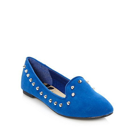 H! by Henry Holland - Designer bright blue +helena+ studded pumps