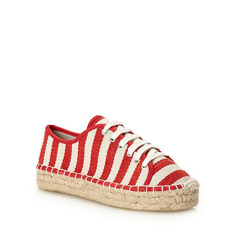 H! by Henry Holland - Designer red striped platform pumps