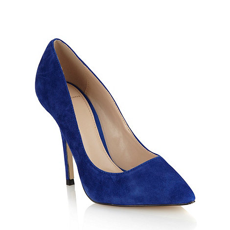 J by Jasper Conran - Royal blue suede high heel pointed toe court shoes