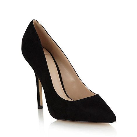 J by Jasper Conran - Black suede high heel pointed toe court shoes