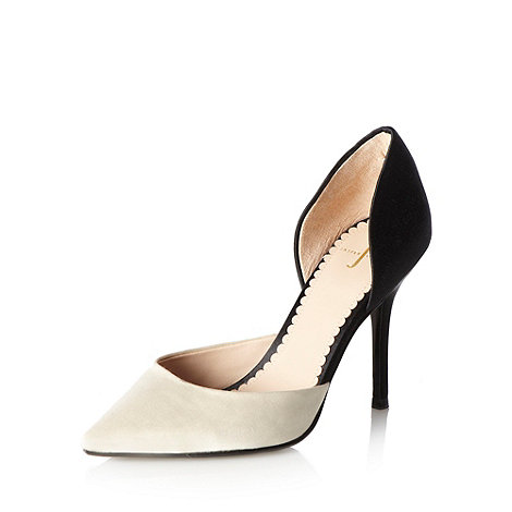 J by Jasper Conran - Designer white cut out court shoes